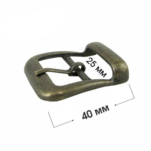 Метална катарама за колан, обувки и други - 25 мм ( антик )